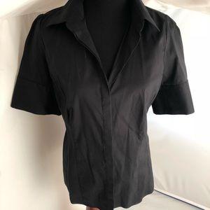 Ann Taylor short sleeve button down shirt